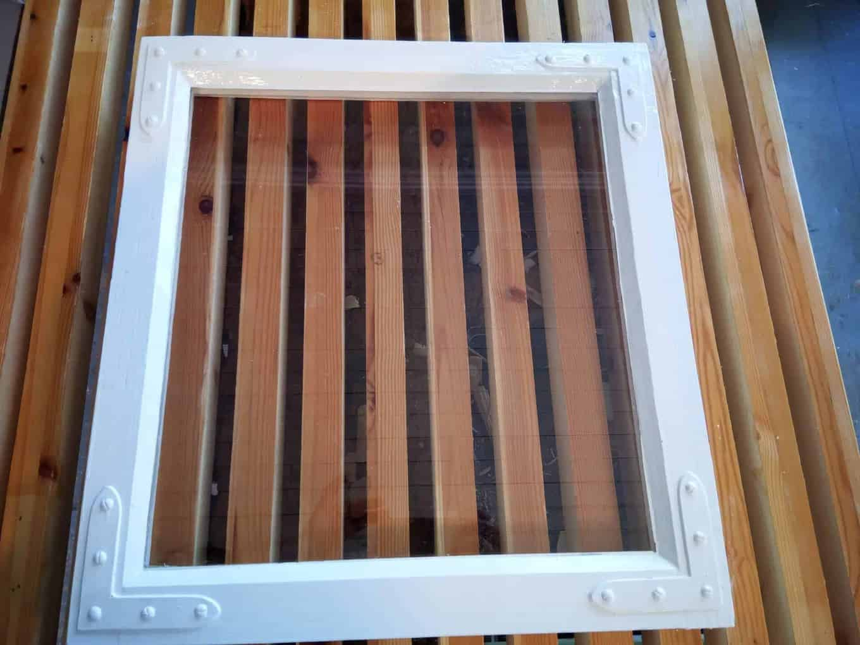 Ferdig restaurert vindu